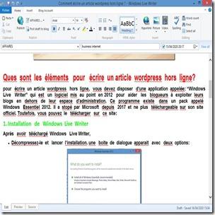 ecrire   article  wordpress hors ligne2