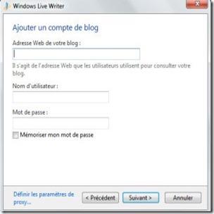 ajout  compte, windows  live  writer