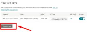 clé API mailchimp for WP, installer formulaire d'inscription