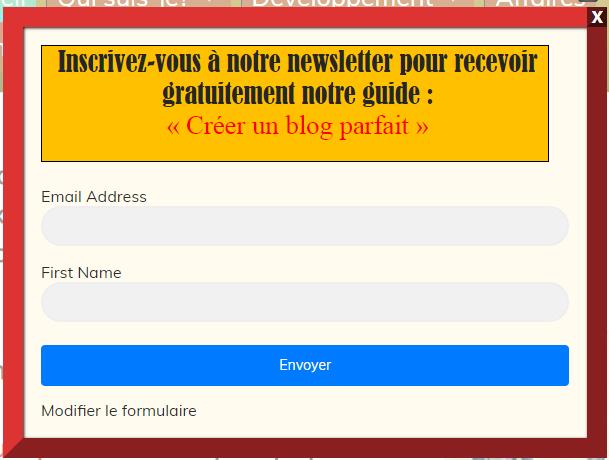 comment installer un formulaire d'inscription sur son site