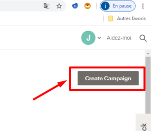 créer formulaire d'inscription sur le site mailchimp étape 1
