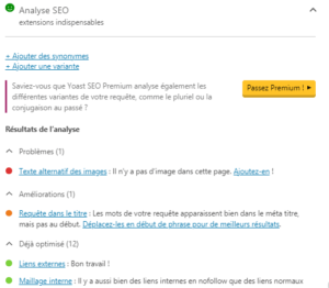 yoast SEO - extensions indispensables
